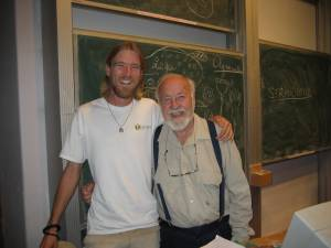 Braden with Bill Mollison, one of the co-originators of permaculture