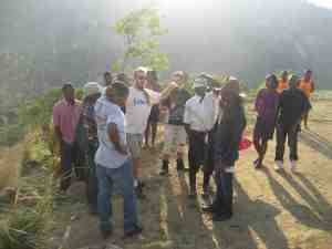 Braden teaching Permaculture to Haitian Farmers