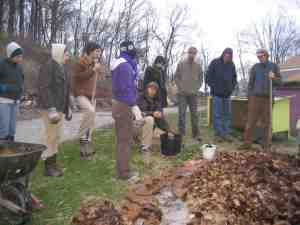 Ande teaching Edible Forest Gardening in our 2012 PDC